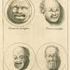 Ancient Roman comic masks.
