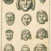 Ancient Roman masks.