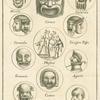 Ancient Roman comic masks
