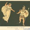 Aeneas and the shade of Creusa.