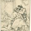 Ulysse, a son retour a Ithaque, est reconnu par Télémaque.