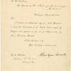 Printed letter signed To the Governor of the State of Mississippi. Countersigned by William H. Seward, Secretary of State