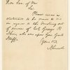 A.L.S. to Secretary of War requesting statement for mustering out of Col. George P. Ihrie