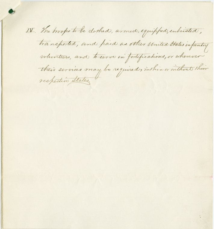 This is What Abraham Lincoln and Document signed by the Governors of Ohio Indiana Iowa and Wisconsin offering the Government 80000 troops with autograph acceptance by President Lincoln and by Secretary of War Stanton dated Apr 23 1864 Looked Like  on 4/21/1864