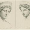 Two views of the head of the Hera Barberini.
