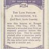 Pte. J. Mackenzie, V.C.