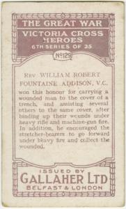 Rev. William Robert Fountaine Addison, V. C.