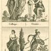Calliope ; Uranie ; Polymnie ; Minerve.