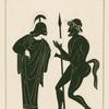 Minerva disputes with Marsyas