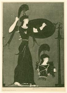 [Depiction of Athena and Athena Promachos from a Panathenaic amphora]