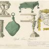 Tripodi, troni, arnesi &c.