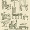 Roman chairs, stools, parasol