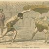 Gladiatorenkämpfe, Netzfechter und Samnit.