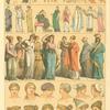 Cuadro de costumbres, trajes y tocados de los griegos.