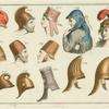Helmets and headdresses of western Asian peoples.