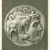 Coin depicting Alexander the Great wearing an elephant-scalp headdress.