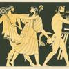 The return of Hephaestus to Olympus, with Dionysus and satyr.