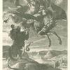 Bellerophon fights the Chimaera.