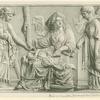 Demeter, Kora (Persephone) and Triptolemos.