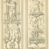The Fates, after a Vatican tapestry border by Raphael, in two sections.