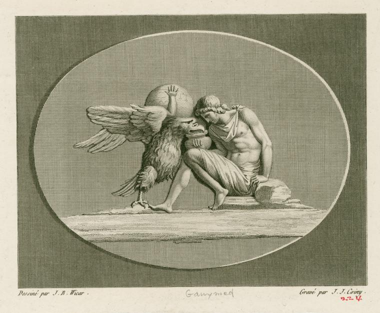 [Ganymede and the eagle.]