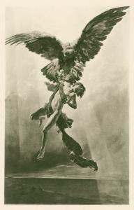 [The abduction of Ganymede.]