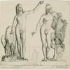 Statue of Ganymede and the eagle  ;  Statue of Ganymede, wearing the Phrygian cap, with the eagle and barking dog (inset) ; Statue of Ganymede, wearing the Phrygian cap,  embracing the eagle.