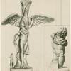 Statue of Ganymede being carried away by the eagle ; Sculptural fragment of Ganymede (inset)