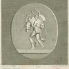 Hercules, wearing the skin of the Nemean lion, carries the Cretan bull