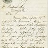 Autograph endorsement signed on verso of A.L.S., Jun 21, 1861, from James Meredith Reade, Jr. to H. Bendan