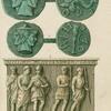 Etruscan coins ; Etruscan sarcophagus.