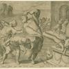 Laocoön and his sons strangled by sea serpents