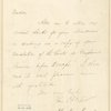 Letter to Mary L. Booth [New York]