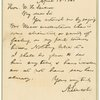 Letter to William Henry Seward