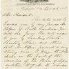 Autograph endorsement signed by Abraham Lincoln on verso of A.L.S., Sep 6, 1861 from John F. Potter to Lincoln requesting an army appointment for Mr. Helper of North Carolina
