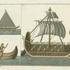 Egyptian and Phoenician ships.