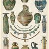 Phoenician glass vessels and necklaces.
