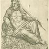 Oceani effigies Romae in edibus nobilis Romani in regione platee de Sciarra.