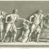 Orestes killing Clytemnestra.