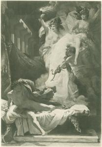 Orestes pursued by the Furies.