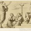 Orpheus demanding Eurydice from Pluto.
