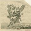 Perseus auf dem geflügelten Pegasos.