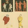 Scenes and pantomime actors of Roman comedy