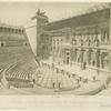 Théâtre d'Ostie et Basilique de Constantin, à Rome.