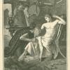 Priam venant demander a Achille le corps d'Hector.