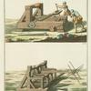 Catapult ; Ballista for hurling large missiles.