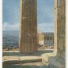 Colonnes du Pathènon et Erechtéion--Athènes.
