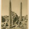 Karnak.  The two obelisks of Queen Hatshepset and her father Thothmes I.