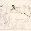 Apollo standing beside a quadriga, driven by Diana.]