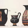 Ancient Greek and Italian pottery vessels.]